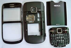 Full Housing Cover case fascia Faceplate Facia for nokia C3 Black