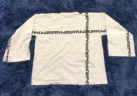 FLAGSTUFF BIG LINE TEE Shirt Relaxed Long Sleeve Ribbed Collar 100% Cotton Japan