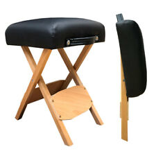 Angel Handy Wooden Folding Bench Stool, Portable & Lightweight with carry handle