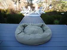 "For Your Dog Only Round 2pc Bagel Bed Large 36""X46"" Usa Heavy Duty Canvas & Fill"