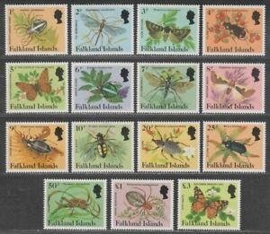 Falkland Islands 1984 QEII Insects and Spiders Set Mint SG469A-483A cat £10