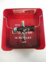 Coca-Cola Tin Napkin Holder Red With Bottle Coca-Cola in Bottles Logo