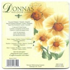 Donna Dewberry Yellow Floral Cutout Wallies 17619