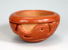 Santa Clara Pueblo Indian Pottery Triangular Avanyu Bowl - Mary Scarborough