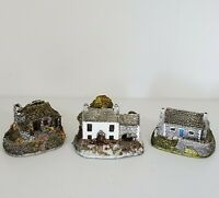 Lot of 3 VTG Lilliput Lane Houses - The Croft, The Hermitage,  The Brecon Bach