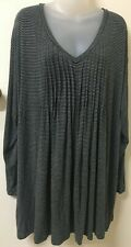 MY SIZE Black/Grey Striped, Long Sleeve Top -XL- Exc Con