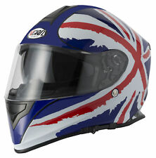 VCAN V127 UNION JACK MOTORBIKE MOTORCYCLE ACU APPROVED FULL FACE HELMET NEW