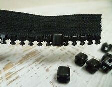YKK Zipper Top Stops - #10 Chunky Zip - Plastic - 8 Pack -  NO TOOLS REQUIRED!
