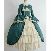 Lady Gothic Lolita Dress Tiered Ruffle Vintage Medieval Victorian Costume