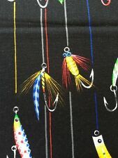 RPE712 Fly Fishing Lures Fishing Tackle Bait Cotton Fabric Quilt Fabric
