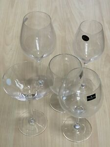 Vintage Mixed 5pc White Red Wine Martini Cocktail Gin and Tonic Glasses Gift Set