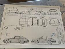 Porsche 911 Targa 1967  Konstruktionszeichnung/ Blueprint.
