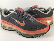 Nike Air Max 360 Flint Grey Deep Orange Silver Mens Size 12 Rare 310908-081