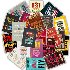 25Pcs Motivational Life Quotes Diary Stickers Skateboard Laptop Luggage DecaAp