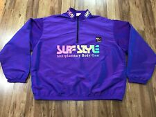 New listing Mens Xl - Vtg 90s Surf Style 1/2 Zip Windbreaker Pullover Jacket Purple Blue