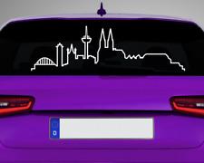 Skyline Silhouette Köln Aufkleber Autoaufkleber  25 Farben 8 Größen Sticker