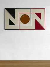 1970 RENE LAMOUREUX PEINTURE CINETIQUE MODERNISTE ABSTRACTION GEOMETRIQUE