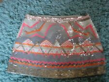 Stunning  All Saints Chan Sequin Skirt Size 6 Excellent Condition