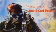 "F-16 ""Viper Pilot""... Aviation Art by David Carl Peters"