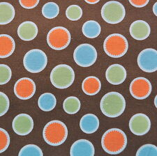 Mod Tod Brown Dot by Sherri Berry Designs for Riley Blake, 1/2 yd cotton fabric