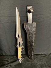 Chipaway Cutlery Hunting Long Blade Knife Bone Sword Pakistan Made Steel Vintage