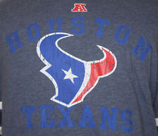 Houston Texans Large T-Shirt L Football Blue Texas Long Sleeve NFL Team Apparel