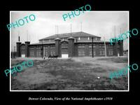 OLD LARGE HISTORIC PHOTO OF DENVER COLORADO, VIEW OF NATIONAL AMPHITHEATER c1910