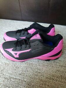 Mizuno 9-Spike Pink Black Adv. Softball Cleats Franchise 7 *size 9* New w/ Box