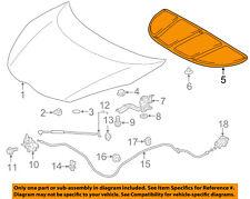 TOYOTA OEM 12-16 Prius C Hood-Insulation Pad Liner Heat Shield 5334152200
