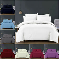 3 Piece Duvet Quilt Cover 200TC Soft Brushed Fabric Bedding Set Double King Size