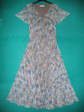 5d474ddb Ladies Size 10 Teal Mix Floral Chiffon Short Sleeved Dress by Berkertex