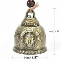 Buddha Statue Pattern Bell Blessing Feng Shui Wind Chime Good Luck Home Decor AU