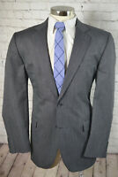 Stafford Mens Gray CLASSIC FIT Flat Front 2 Piece Suit 44L 35x31
