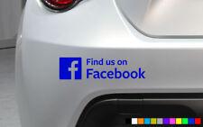 2X    FIND US ON FACEBOOK CAR STICKER VAN BUMPER WINDOW FUNNY NOVELTY BUSINESS