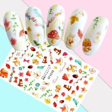 Nail Art Stickers Transfers 3D Self Adhesive Cute Animals Birds (XF3038)