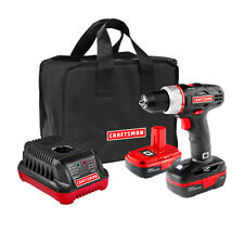 19.2 Volt Drill Driver with 2 Lithium-Ion Batteries Craftsman Kit Cordless