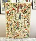 Vintage Flower Chart Illustration Art Tapestry, 37x25'' Aesthetic Fabric Poster