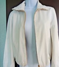 3K Auth GUCCI Genuine LEATHER Light Gray JACKET Made in ITALY Size 40