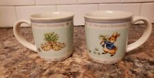 2pc Wedgwood Peter Rabbit For Your Christening Child's Mugs Frederick Warne 2002