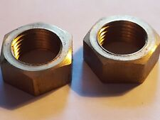 Pair of Vintage Lucas LD 109 Side Lamp Light Brass Fixing Nuts Austin 7