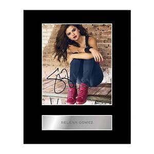 Selena Gomez Signed Mounted Photo Display #1 Music