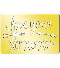 "Momenta Art-C Brass Template - I Love You 3.9""x2.6"" #758"