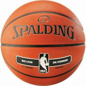 Spalding NBA Silver Basketball All Surface Outdoor Ball Adult Kids Size 7 6 5 3