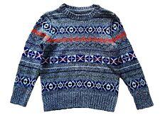 Baby GAP Boys Knitted Fairisle Multi Orange Jumper Boy 12-18 18-24 £19.95 New