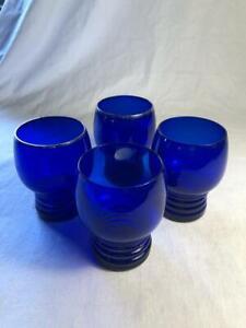 SET OF 4 COLBALT BLUE GLASSES