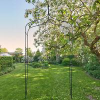 Outdoor Garden Arch Arbor Black WeddingTrellis Climbing Plants Iron Gate