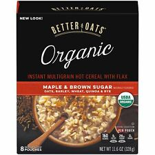 Better Oats Organic Maple & Brown Sugar 8 ct Box