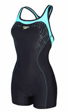 Speedo Fit Kickback 810368A567 Racerback Swimming Costume Swimsuit Leg Suit