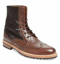 New in Box - $465 Gordon Rush Italy Brown Pony Hair/Leather Wingtip Boot Size 9