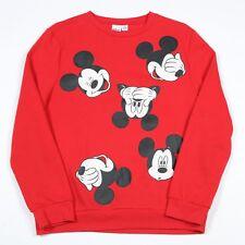 Vintage Mickey Mouse Disney Sweatshirt | Women's 10-12 | Retro Sweat Jumper Top